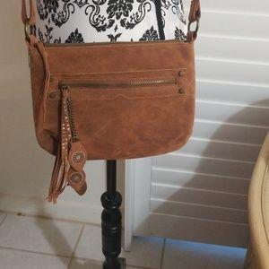 Womens suede purse